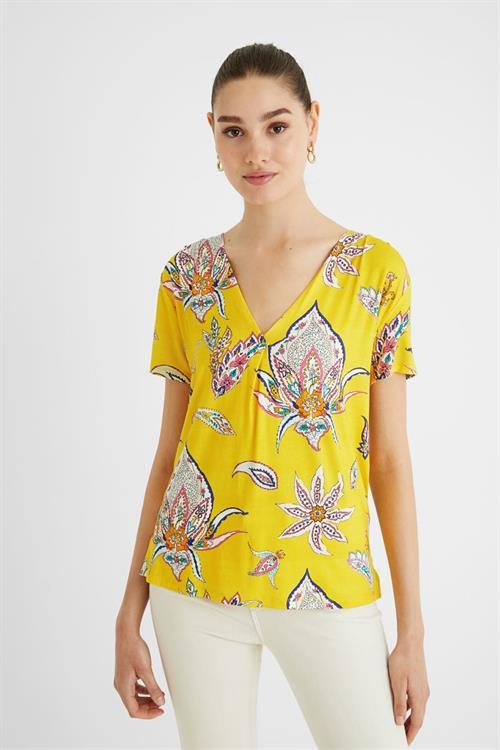 tričko Desigual Lemark amarillo canario