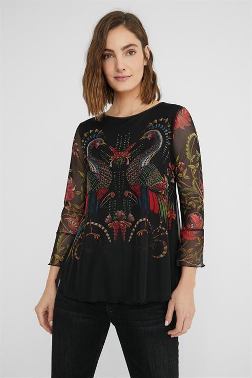 tričko Desigual Sandrini negro