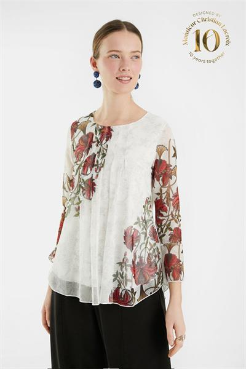 tričko Desigual Sheila blanco