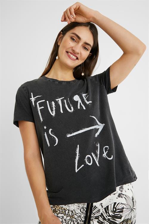 tričko Desigual Future gris tormenta