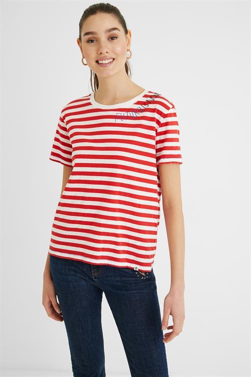 tričko Desigual Paris carmin