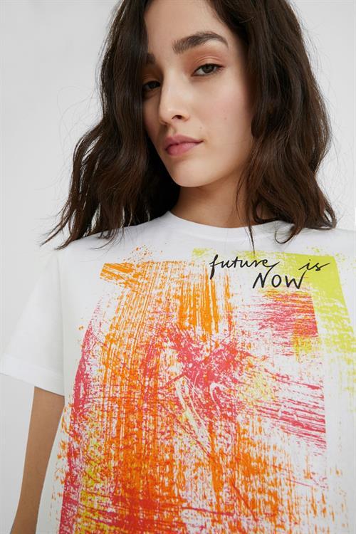 tričko Desigual Amsterdam blanco