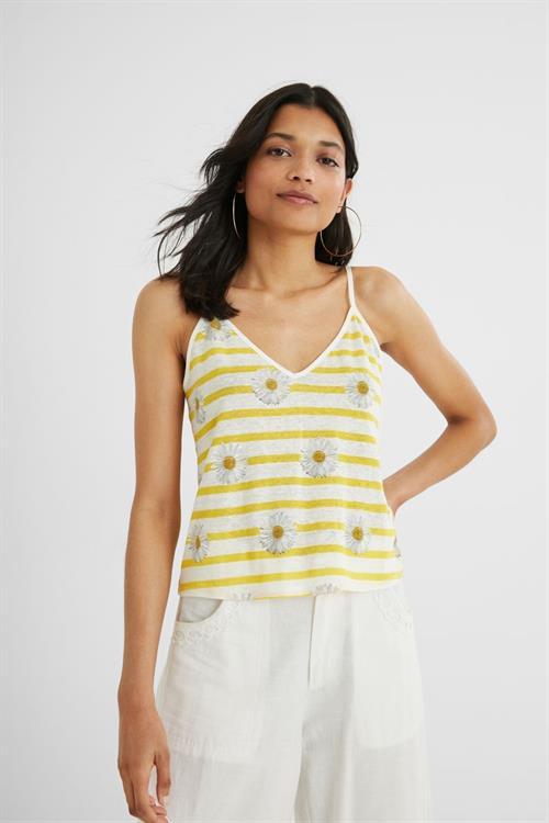tričko Desigual Kela amarillo canario