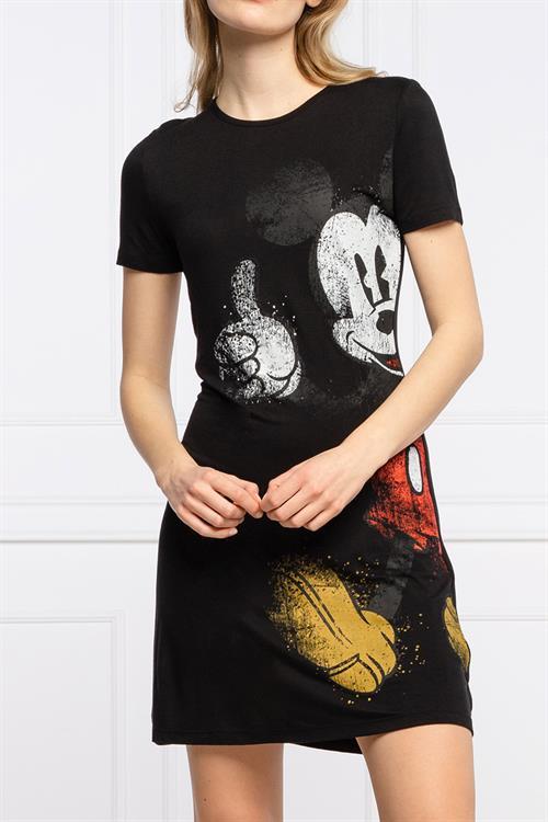 šaty Desigual Mickey negro