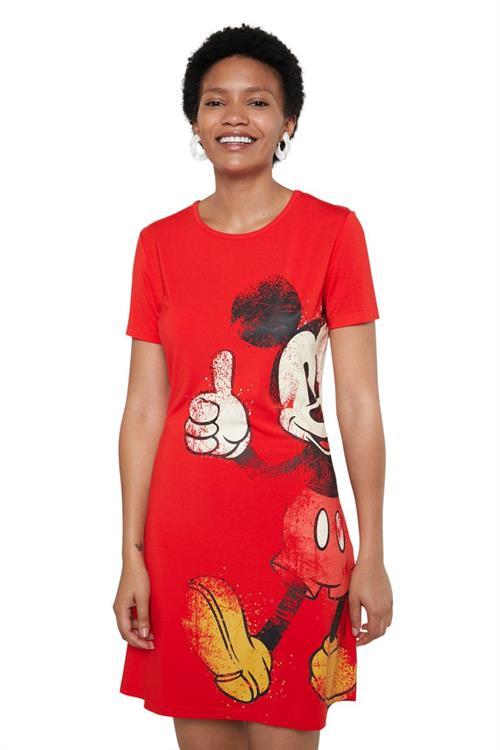 šaty Desigual Mickey rojo clavel