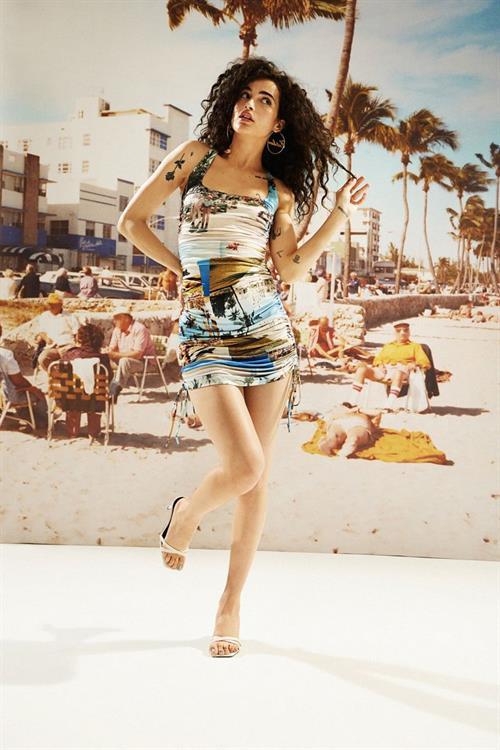 šaty Desigual New Beach celeste