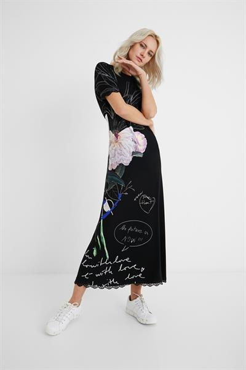 šaty Desigual Flor negro
