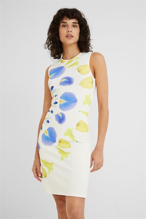 šaty Desigual Petals blanco