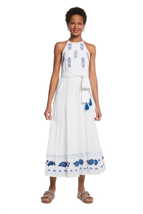 šaty Desigual Memphis blanco