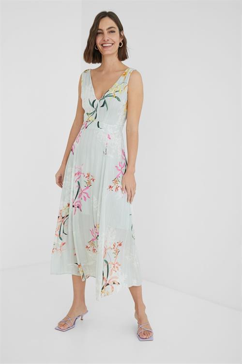 šaty Desigual Limbert verde agua