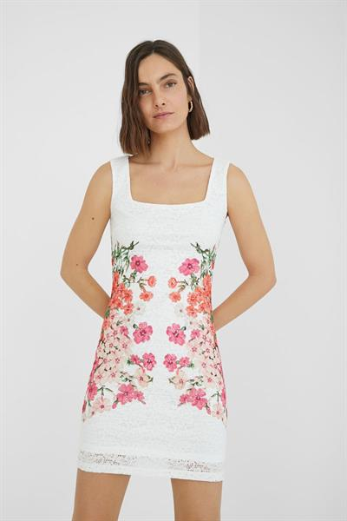 šaty Desigual Sandra blanco