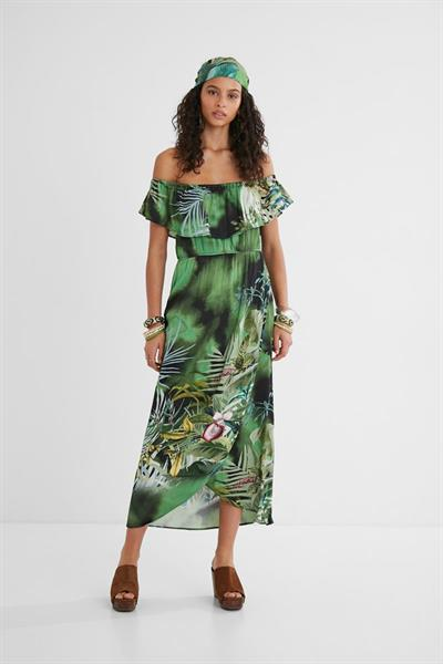šaty Desigual Tucson verde clorofila