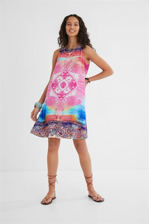 šaty Desigual Nana rosa glamour