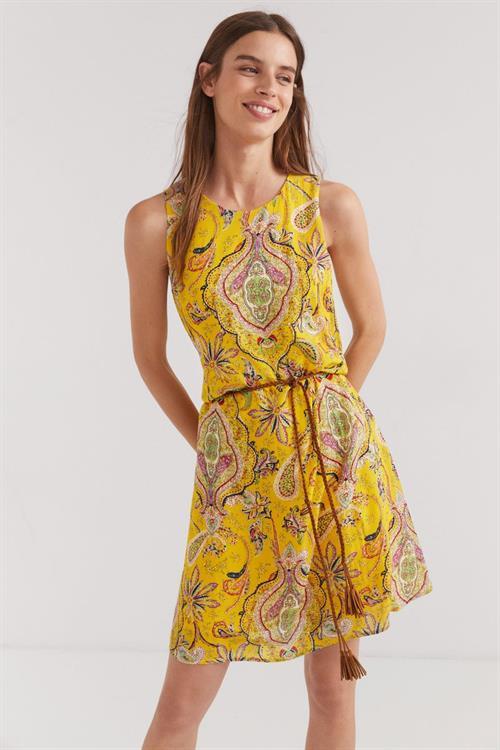 šaty Desigual Adriana amarillo canario