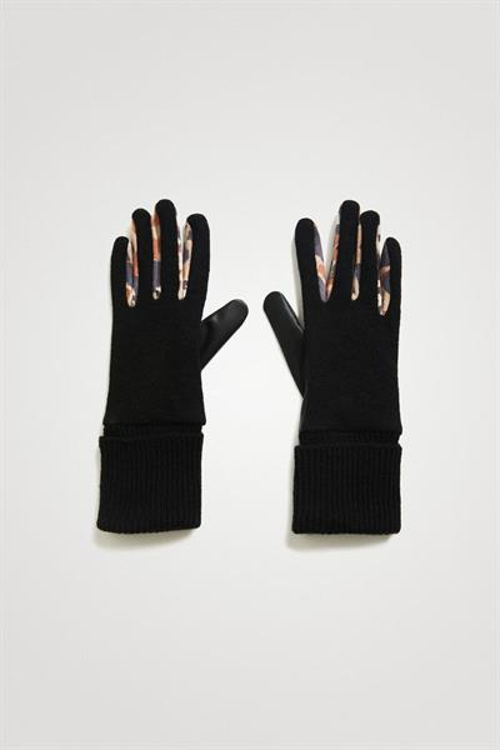 rukavice Desigual Animal Patch negro
