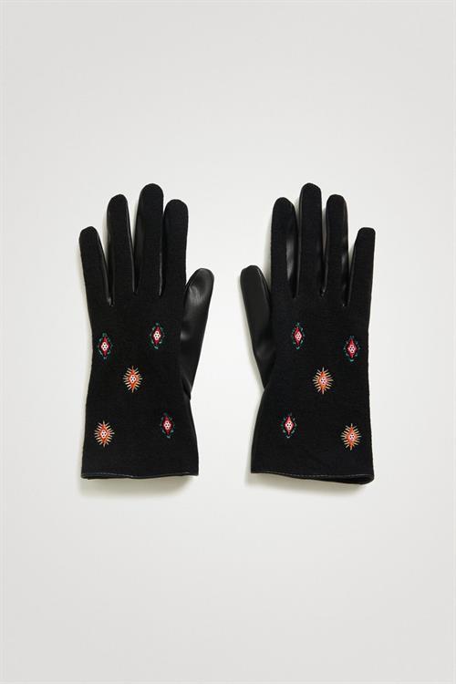 rukavice Desigual Juliy Tribu Hibri carmin