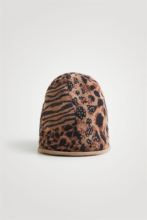 čiapka Desigual Animal Patch Gorro marron