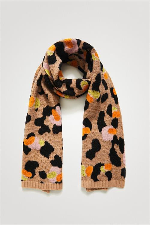 šál Desigual Leopard marron