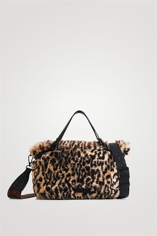 kabelka Desigual Camo Fur Libia Mini crema