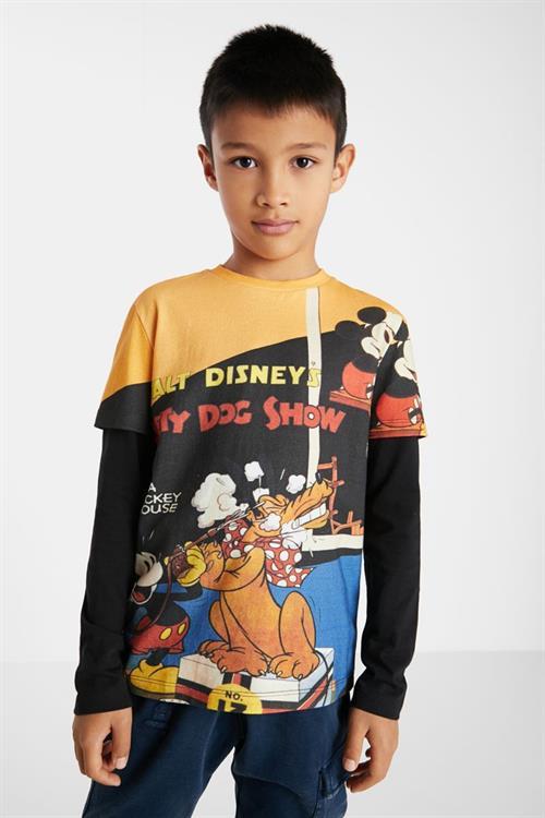 tričko Desigual Mickey & Plut azul oscuro