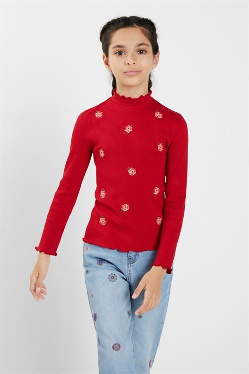 tričko Desigual Ada rojo sangre