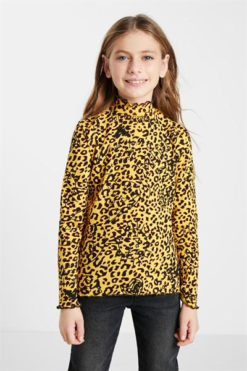 tričko Desigual Leo amarillo sol