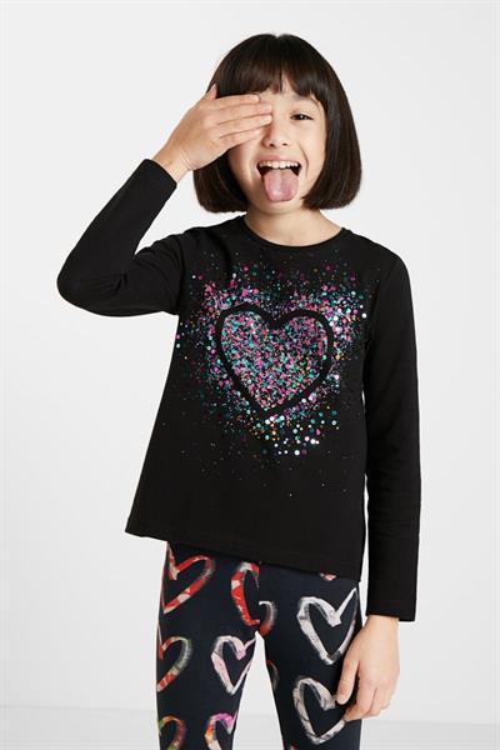 tričko Desigual Core negro