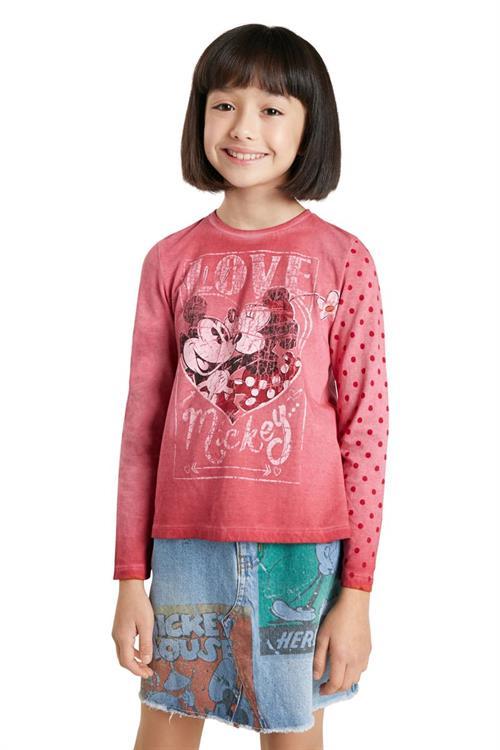 tričko Desigual Love Mickey rojo