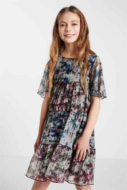 šaty Desigual Acroita gris azulado
