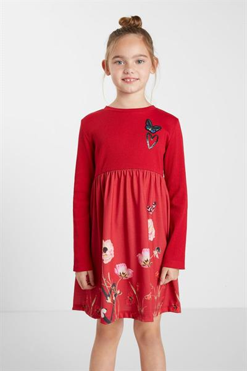 šaty Desigual Ariadna brick red