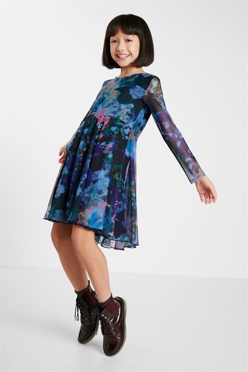 šaty Desigual Lipa azul artico