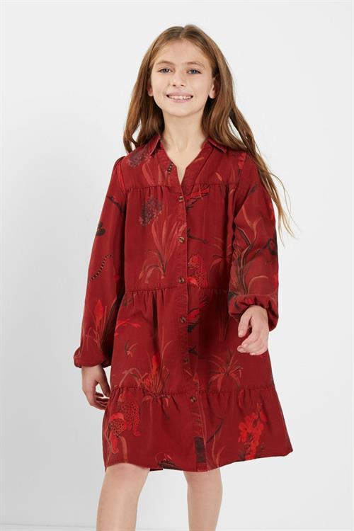 šaty Desigual Vervena borgona