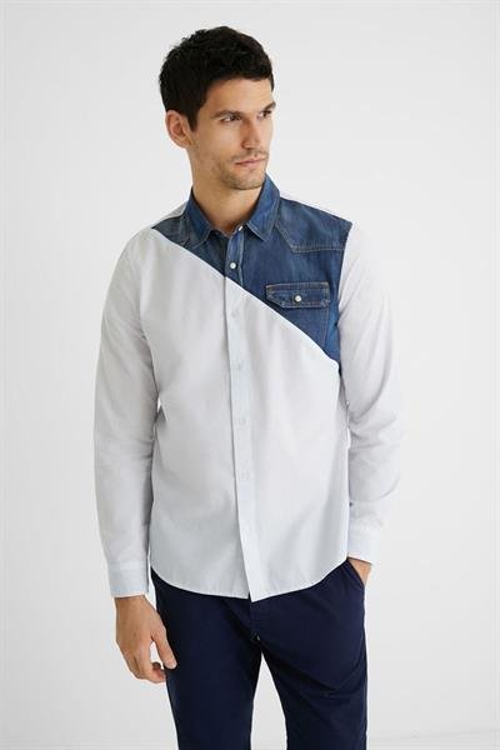 košile Desigual Camilo blanco