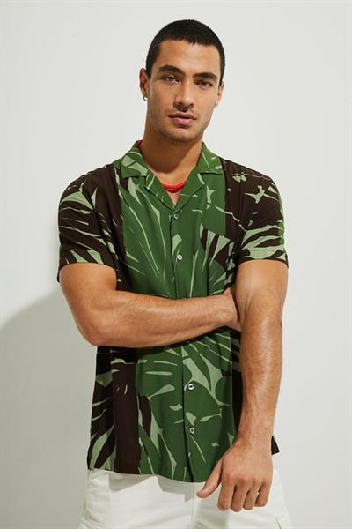 košeľa Desigual Anto verde selva