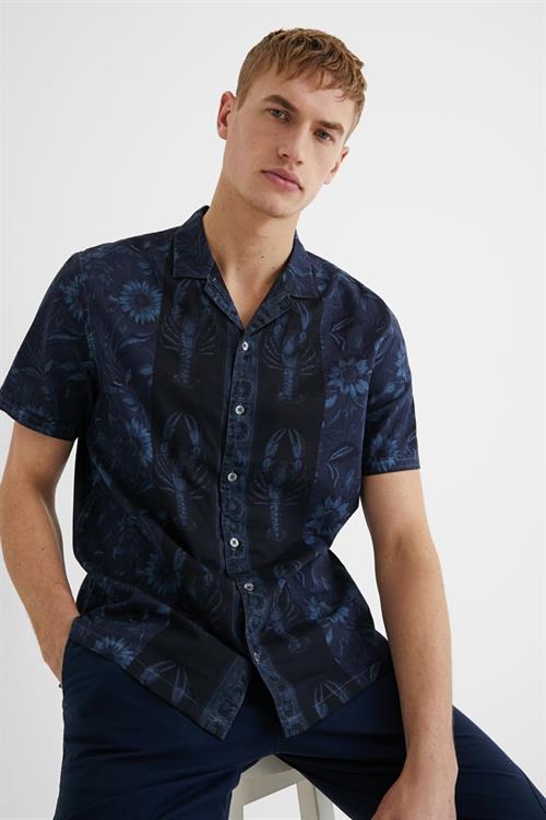 košile Desigual Pacifico azul artico