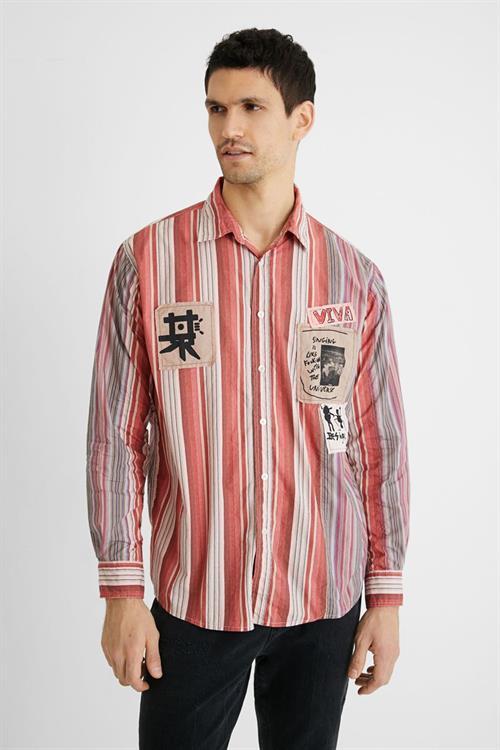 košile Desigual Camara rosa salvaje