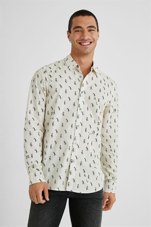 košile Desigual Roz blanco