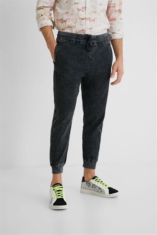 kalhoty Desigual Alfred antracita