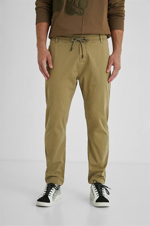 kalhoty Desigual Andrew camel
