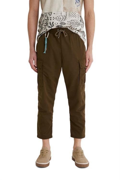kalhoty Desigual Arvel kaki