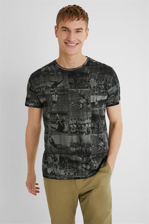 tričko Desigual Jualian gris medio