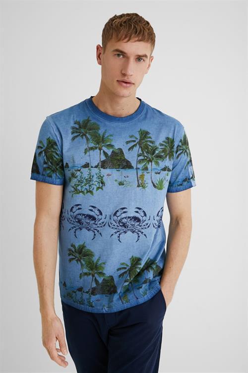 tričko Desigual Victor blue moon