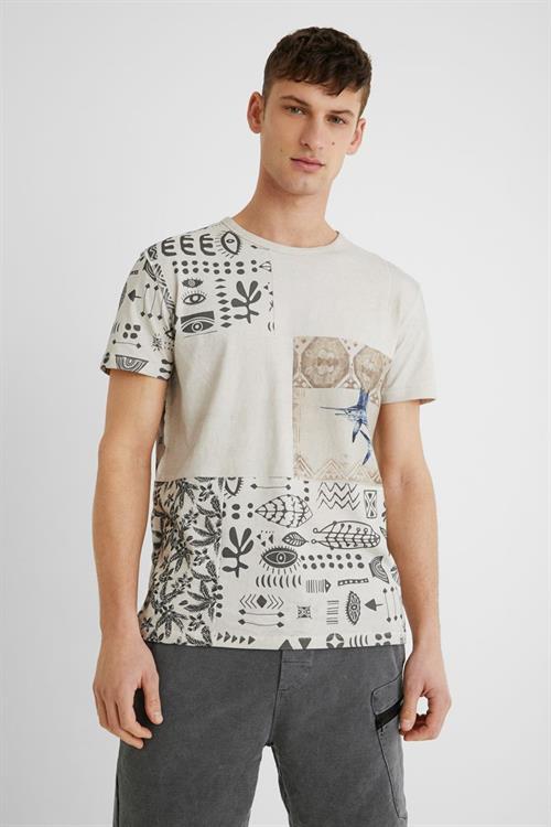 tričko Desigual Jason blanco