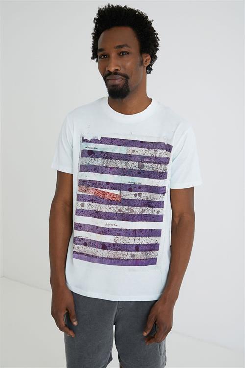tričko Desigual Abruzzo blanco optico