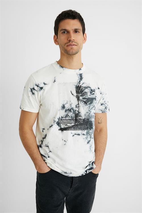 tričko Desigual Palm algodón