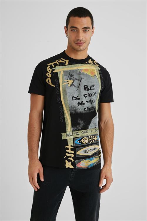 tričko Desigual Jatras negro