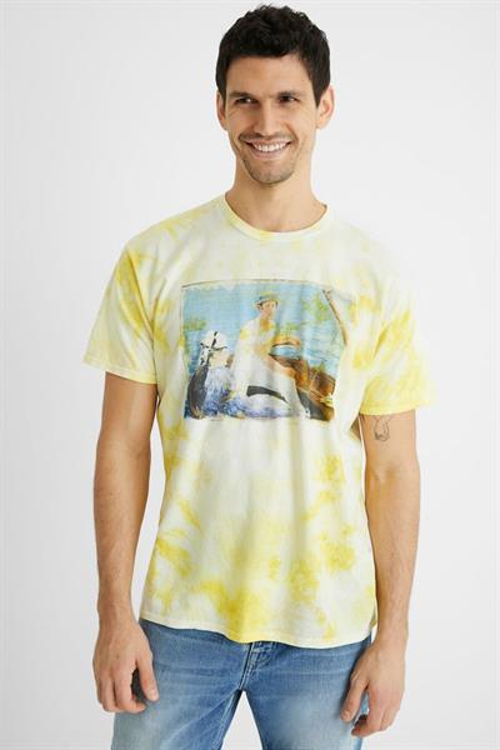 tričko Desigual Feal amarillo tijuana