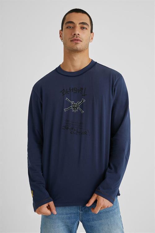 tričko Desigual Celere navy