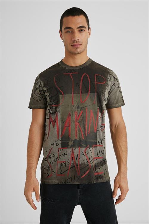 tričko Desigual Nadal oscuro