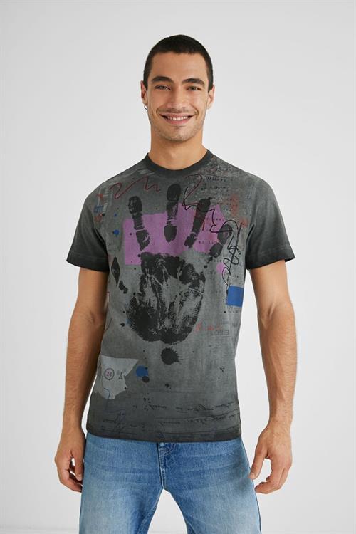 tričko Desigual Roy gray